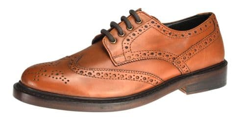 Bench Grade Stow Welted  Tan Brown Brogue Shoes